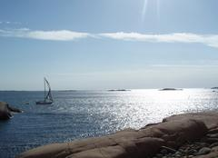 Mer Göteborg Soleil sur la Suède