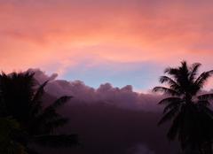 Ciel Hiva-Oa 98741 Coucher de soleil aux Marquises