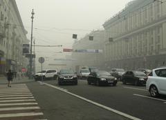 Moscou Moscou dans le brouillard