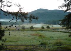 Froid Kalispell Prairies gelées au Montana