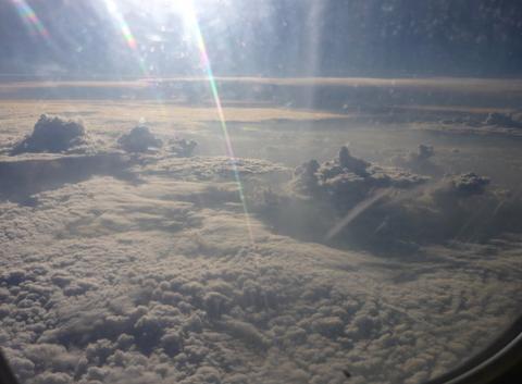 Ciel caothique audessus de l'Afrique vue d'avion