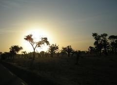 Couché de soleil au sénégal