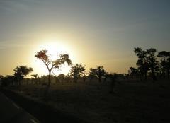 Saint Louis Couché de soleil au sénégal