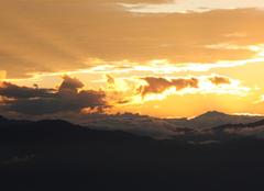 Ciel Katmandou Lever de soleil à Nogarkot
