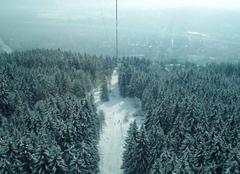 Brouillard Innsbruck Descente en téléphérique