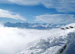 Brouillard Innsbruck Mare de coton sur Innsbruck