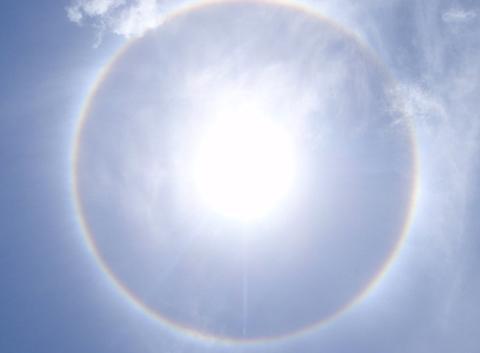 Halo de lumière solaire
