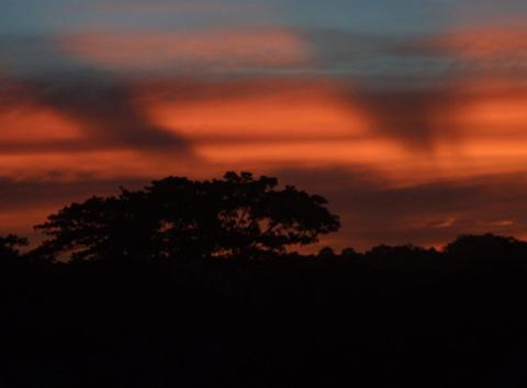 Ciel rouge à Madagascar