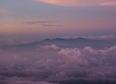 Nuages Kota Kinabalu Lever de soleil à 3500m d'altitude
