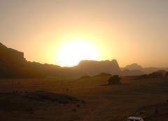 Ciel Ma'An Coucher du soleil désert du Wadi Rum