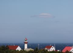 Nuages Gaspé Phare et nuage lenticulaire