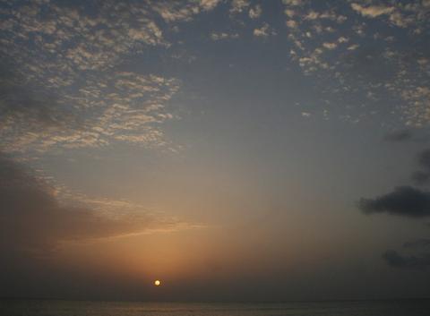 La mer d'Oman au sot du lit
