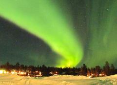 Ciel Inari Nuit verte