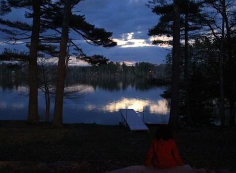 China Lake Maine USA