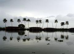 Orage Cochin Crépuscule sur les backwaters