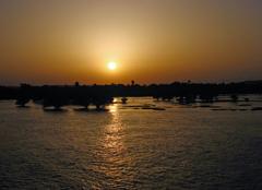 Ciel Assouan Soleil couchant sur le NIL