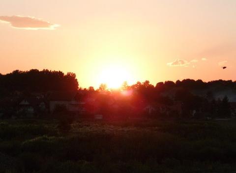 Coucher de soleil ( Živinice,canton de Tuzla,BiH )