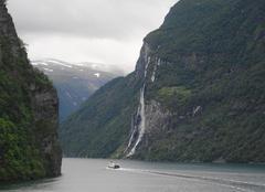 Pluie Bergen Les fjords de Norvége.