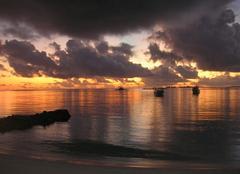 Ciel Male Coucher de soleil aux Maldives