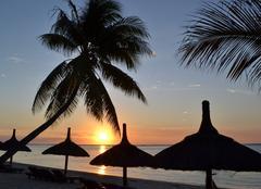 Couché de soleil sur île Maurice
