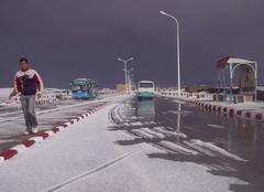 Neige au Sahara 'Béchar'