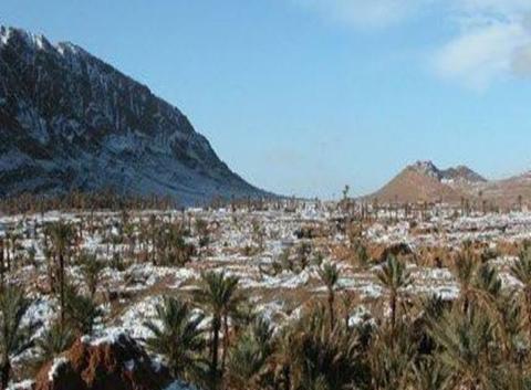 Neige dans le Sahara 'Béchar'