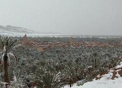 Neige Timimoun Neige dans le Sahara 'Béchar'
