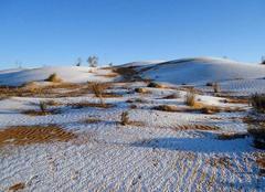 Neige Hassi Messaoud Sahara Algérien sous la neige aussi !