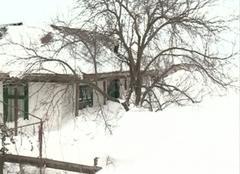 Neige Bucarest Roumanie neige