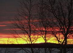 Ciel Sodankylä 16 H coucher de soleil