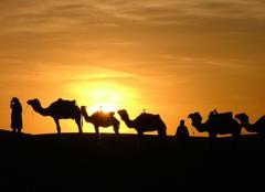 Ciel Ourika Coucher de soleil sur le désert du Sahara