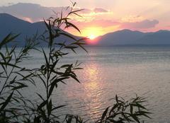 Ciel Isparta Couché de soleil sur lac d'Egirdir 1
