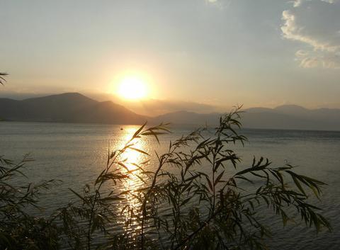 Couché de soleil sur lac d'Egirdir 2