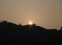 Ciel Guilin Eclipse de soleil au petit matin (miao village)