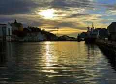 Ciel Bodø INTERMINABLE COUCHER DE SOLEIL NORVEGIEN