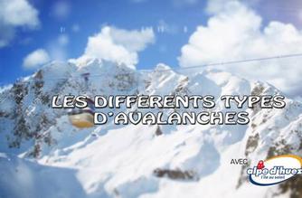 Vidéo Les différents types d'avalanches