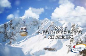 Vidéo Ski : les différents niveaux