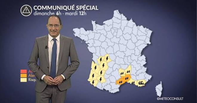 Alerte m�t�o : fortes pluies dans le sud-est, d�gradation dans le sud-ouest
