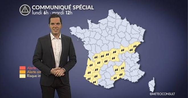 Alerte m�t�o aux fortes pluies