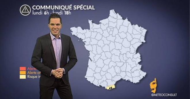 Alerte météo en Corse