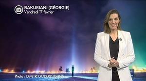 Extraordinaires piliers de lumière en Géorgie...