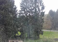 Lohr 67290 En grêle et neige en Alsace-Bossue... un petit épisode...