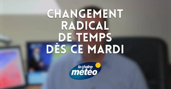 Vidéo Changement radical de temps dès ce mardi