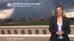 Vidéo Impressionnant rideau de pluie au Texas