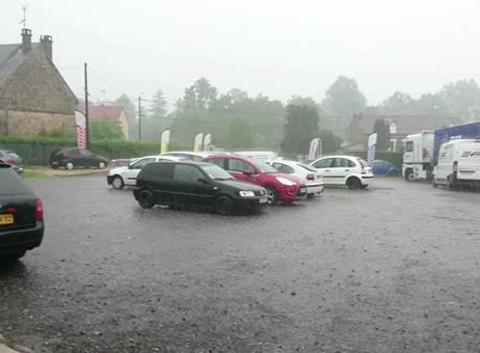 Gros orage, pluies très importantes