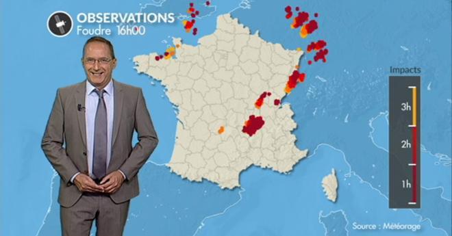 Vidéo Bilan en images des orages en France samedi