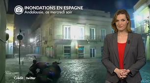 Vidéo Inondations en Espagne ce mercredi