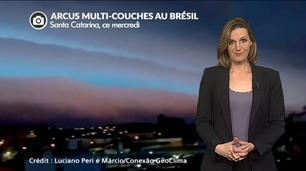 Vidéo Orage multicolore et grêlons géants en Amérique du Sud