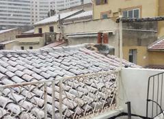 Marseille 13000 Marseille sous la neige, vue notre dame de la garde