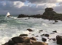 Plouguerneau 29880 Tempête Bruno entrée de Manche 27/12/2017 à 12h00